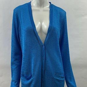 Jones New York Woman Large Cardigan LS Blue New